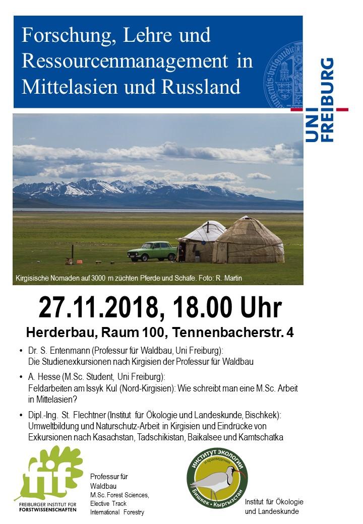 Vortrag zu Exkursionen nach Russland und Mittelasien